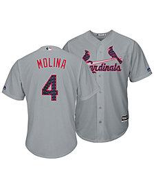 Majestic Men's Yadier Molina St. Louis Cardinals Stars & Stripes Cool Base Jersey