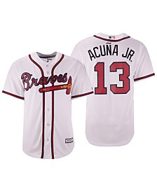 Majestic Men's Ronald Acuña Atlanta Braves Player Replica Cool Base Jersey