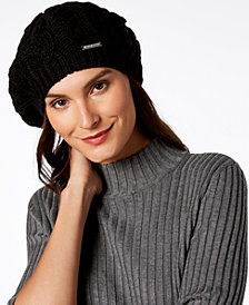 MICHAEL Michael Kors Pointelle Cable-Knit Beret