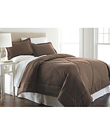 Micro Flannel® Full/Queen Solid Color Comforter Mini Set