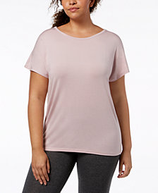 Ideology Plus Size Essential Cross-Back T-Shirt, Created for Macy's