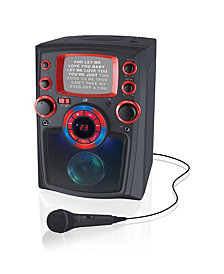 iLive Bluetooth Karaoke with Black and White Monitor and LED Light Show