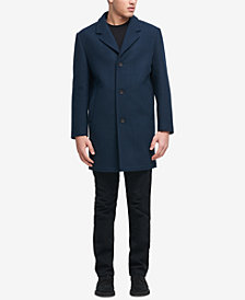 DKNY Men's Big and Tall Tailored Topcoat, Created for Macy's