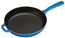 "Lodge 11"" Enameled Cast Iron Skillet"
