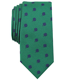 Bar III Men's Shamrock Skinny Tie, Created for Macy's