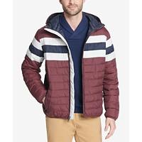Macys deals on Tommy Hilfiger Mens Color Block Hooded Ski Coat