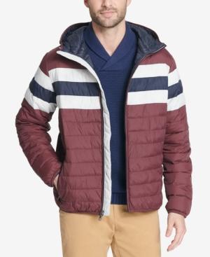 c2cc3b717 Men'S Color Block Hooded Ski Coat, Created For Macy'S, Red