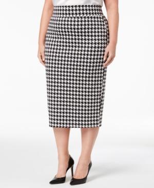 1950s Swing Skirt, Poodle Skirt, Pencil Skirts Alfani Plus Size Printed Scuba Pencil Skirt Created for Macys $69.50 AT vintagedancer.com