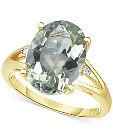 Prasiolite (4-1/2 ct. t.w.) & Diamond Accent Ring in 14k Gold