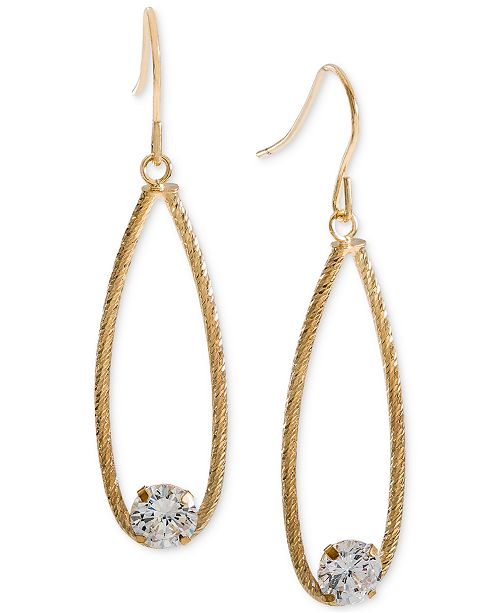 Giani Bernini Cubic Zirconia Teardrop Drop Earrings, Created for Macy's