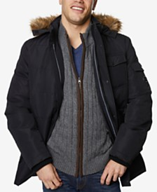 Nautica Men's Quilted Hooded Parka
