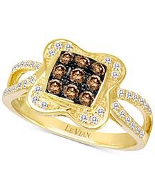 Chocolatier® Diamond Cluster Ring (1/2 ct. t.w.) in 14k Gold