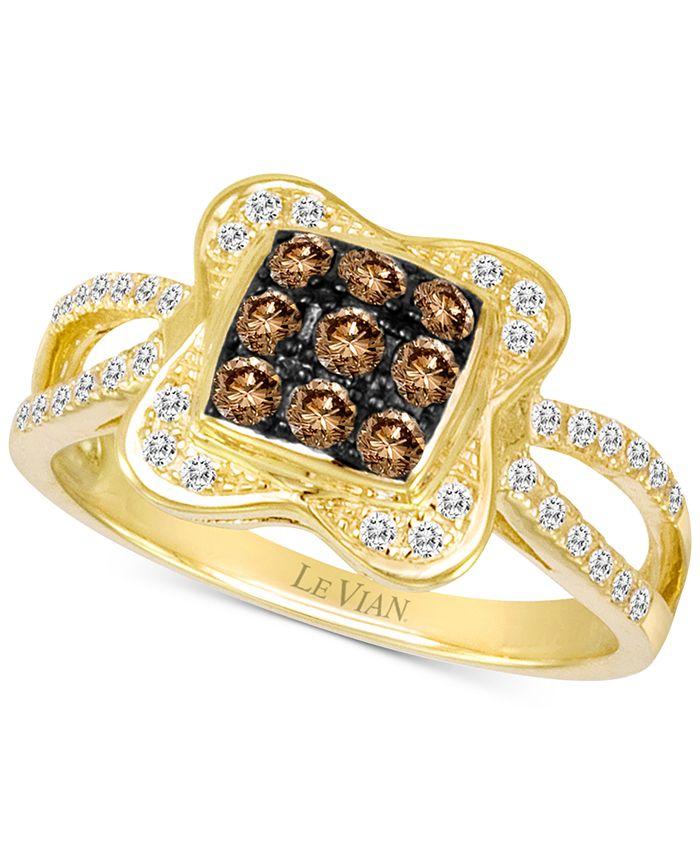 Le Vian - Chocolatier® Diamond Cluster Ring (1/2 ct. t.w.) in 14k Gold