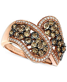Le Vian Chocolatier® Diamond Pavé Statement Ring (1-3/8 ct. t.w.) in 14k Rose Gold