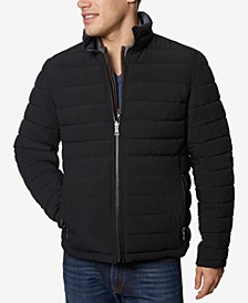 Men's Big & Tall Mid-Weight Stretch Reversible Puffer Jacket