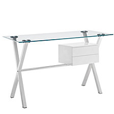 Stasis Glass Top Desk