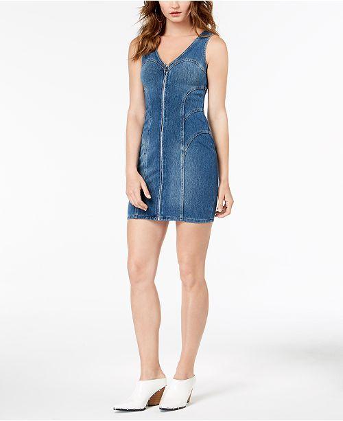 c901dfb02fc8 GUESS Denim Bodycon Dress   Reviews - Dresses - Juniors - Macy s