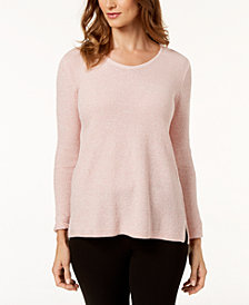 Karen Scott Cotton Textured Tunic Top, Created for Macy's
