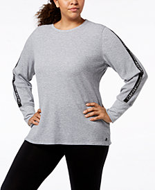 Calvin Klein Performance Plus Size Logo Thermal T-Shirt