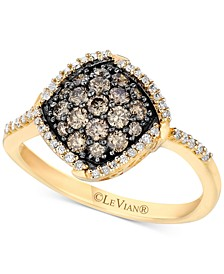 Chocolatier® Diamond Halo Cluster Ring (5/8 ct. t.w.) in 14k Gold