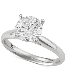 Macy's Star Signature Diamond Solitaire Engagement Ring (5 ct. t.w.) in 14k White Gold