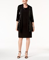 99708bee5b05d R   M Richards Sequin Necklace-Embellished Dress   Jacket