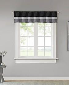 "Madison Park Amherst Colorblocked 50"" x 18"" Rod-Pocket Window Valance"
