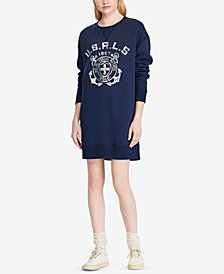 Polo Ralph Lauren Printed Fleece Sweater Dress