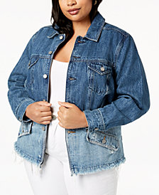 Lucky Brand Trendy Plus Size Cotton Denim Jacket