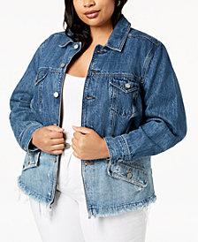 Lucky Brand Trendy Plus Size Cotton Denim Jacket