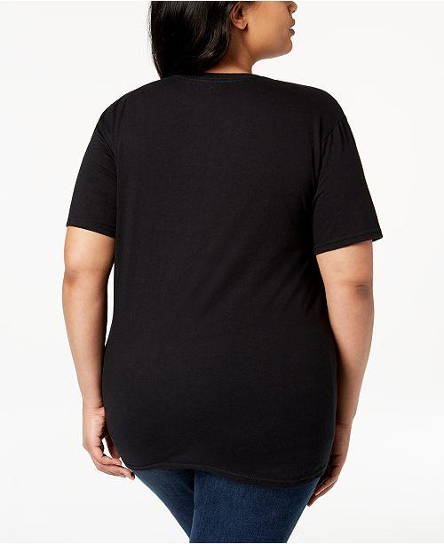 92c693e5ae84b Love Tribe Plus Size Snoopy J Adore T-Shirt - Tops - Plus Sizes - Macy s