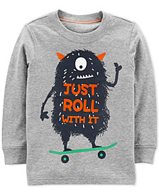 Carter's Baby Boys Monster-Print Cotton T-Shirt