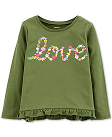 Carter's Toddler Girls Love Graphic Cotton Shirt