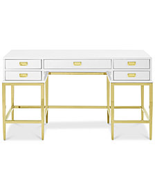 Luistown Contemporary Desk, Quick Ship