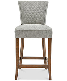 Fletcher Quilted Counter Stool, Quick Ship
