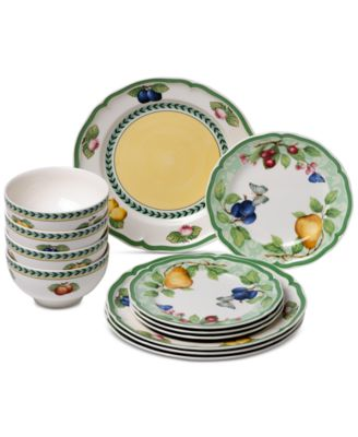 Bon French Garden Beaulieu Porcelain 12 Pc. Dinnerware Set
