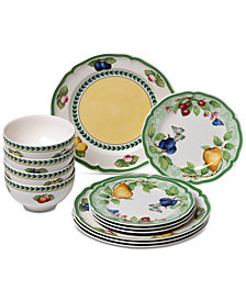 Villeroy & Boch French Garden Beaulieu Porcelain 12-Pc. Dinnerware Set