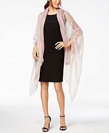 I.N.C. Colorblocked Pleated Evening Wrap, Created for Macy's
