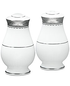 Noritake Odessa Platinum Salt & Pepper Shakers