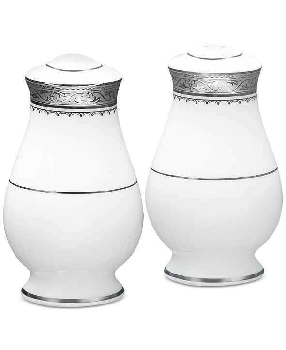 Noritake Odessa Platinum Salt & Pepper Shakers