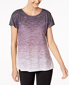 Ideology Space-Dyed Cutout-Back T-Shirt, Created for Macy's