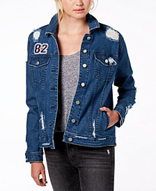 Tinseltown Juniors' Ripped Denim Jacket