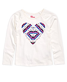 Epic Threads Toddler Girls Long-Sleeve Heart-Print T-Shirt, Created for Macy's