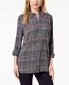 Charter Club Petite Plaid Shirt, Created For Macy's