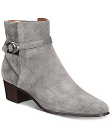 COACH Chrystie Stacked-Heel Booties