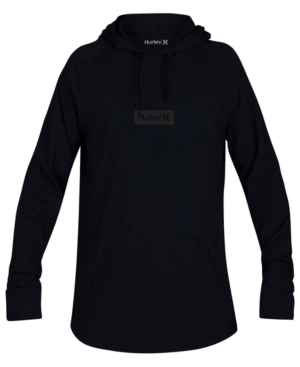 Hurley MEN'S ONE AND ONLY BOX LOGO GRAPHIC HOODED T-SHIRT