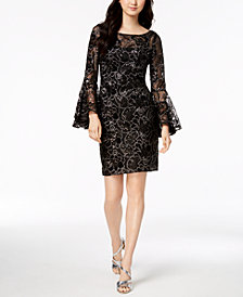 Calvin Klein Sequin Bell-Sleeve Dress