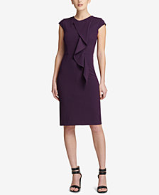 DKNY Ruffled Cap-Sleeve Sheath Dress, Created for Macy's