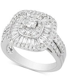 Diamond Ballet Cluster Engagement Ring (1-3/4  ct. t.w.) in 14k White Gold
