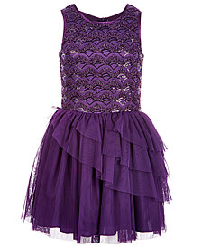 Nanette Lepore Big Girls Sequin & Bead Tulle Dress